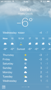 ベルリンの週間予報